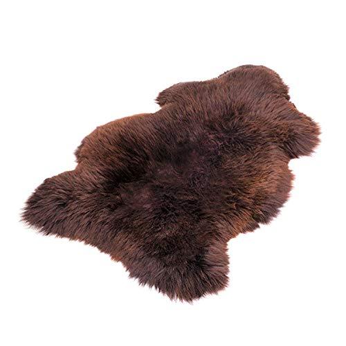 Peau de mouton : 100 % peau de mouton / ooko - Peau de mouton marron - Produit naturel XL - Doux et moelleux - Idéal pour la chambre d