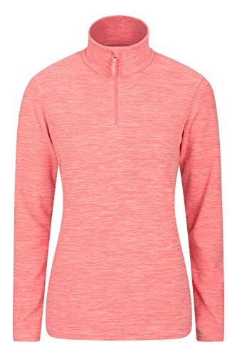 Mountain Warehouse Snowdon Damen-Fleecejacke - Antipill, Leichter Pullover, halber Reißverschluss, atmungsaktives Sweatshirt, schnelltrocknend - zum Wandern, Reisen Orange 36