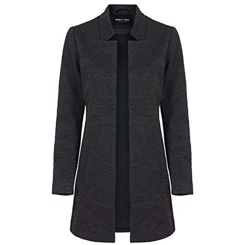 ONLY Damen Sweat-Cardigan Long Blazer, Farbe:dunkelgrau;Größe:S