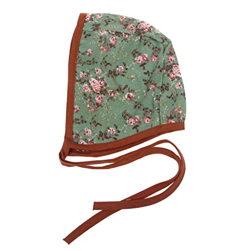 ruiruiNIE bébé Floral Vintage Chapeau Nouveau-né Photographie Double Face Sangle en Lin Bonnet garçons Filles Accessoires Cap Campagne Costume Enfants Bonnet 7 Styles