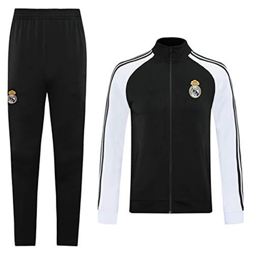 Reǎl Mǎdrid 2021 - Chándal de fútbol (manga larga, cuello alto, ropa deportiva)