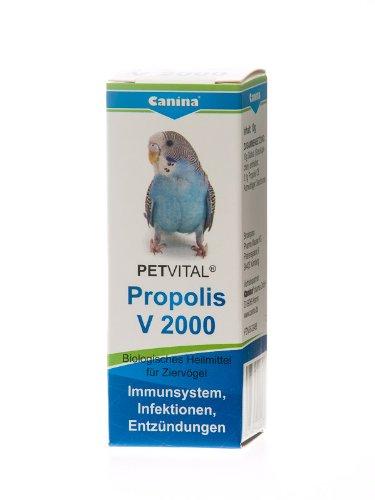 Canina 40200 7 Petvital V 2000 Propolis 10 g Globuli für Vögel