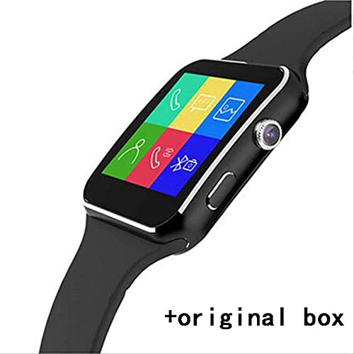 XYQY Bluetooth Smart Watch Frauen X6 + Smartwatch Mann Sportuhr für Apple iPhone Android Phone mit Kamera Fm Unterstützung SIM-Karte
