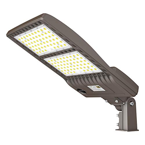 LED Parking Lot Lights 320W 44800LM LED Shoebox Adjustable Slip Fit Mount Lights Fixture 1000W HID/HPS Replacement 5000K IP65 AC 100-277V UL Listed Outdoor Commercial Area Lighting for Stadium Roadway