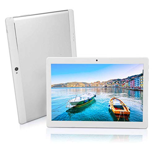 10 inch Android Tablet PC, Octa-Core Processor, 4GB RAM, 64GB Storage, 5G-WiFi,Bluetooth, GPS, GMS Certified, IPS HD Display, K4 (Silver)