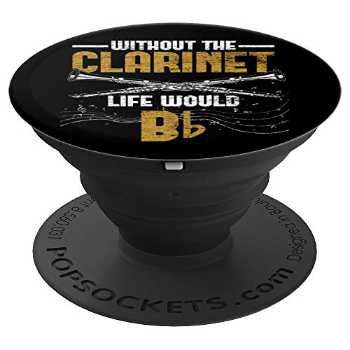 Funny Clarinetist Gift Idea Musician Music Lover Clarinet PopSockets Grip and Stand for Phones and Tablets