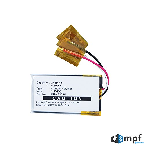 MPF Products 240mAh PR-452035 Battery Replacement Compatible with Bose QC20 QC20i QuietComfort 20 20i Acoustic Noise Cancelling Headphones 718839-0010 362544-0010
