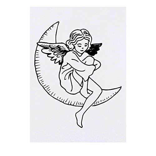 Grand 'Ange de Lune' Tatouages temporaires (TO00026858)