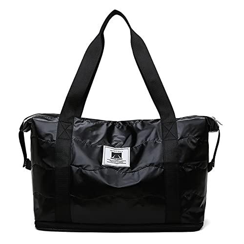 FDSJKD Borsa da Palestra asciutta bagnata Yoga Borsone da Viaggio per Le Donne Fitness Swimming Handbag Formazione Sportiva blosa Impermeabile Bagaglio Pieghevole (Color : B)