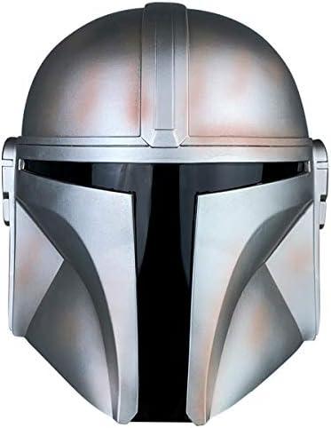 The Mandalorian Helmet Metal Adult Full Head Cosplay Star Wars Boba Fett Headgear PVC Bronze product image