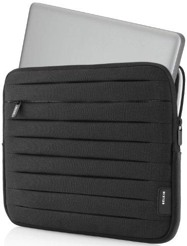 Belkin Plissee-Schutzhülle (für Macbook bis zu 33,8 cm (13,3 Zoll) und Ultrabooks bis zu 33 cm (13 Zoll) schwarz