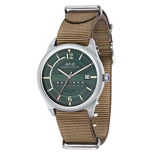 AVI-8 Men's Hawker Hurricane 38mm Beige Nylon Band Quartz Watch AV-4044-05