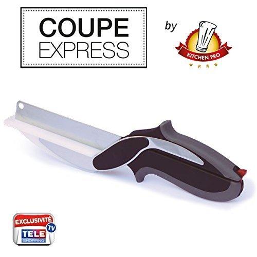 Coupe Express Kitchen Pro 2en1 l'Original, l'ustensile de Cuisine idéal pour Couper, trancher et découper en Un Instant Toute Vos préparations.