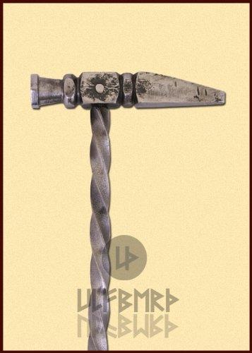 Kriegshammer Streitkolben für Schaukampf von ULFBERTH 45cm für Ritter Mittelalter - 2