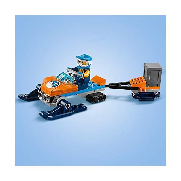 LEGO City - Ártico: Equipo de Exploración, Juguete de Construcción de Aventuras de Equipo de Expedición con Moto de Nieve y Figura Perro Husky (60191)
