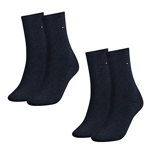 Tommy Hilfiger Calcetines Mujer, Classic, 4er Paquete