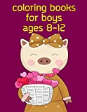 Coloring Books For Boys Ages 8-12: The Coloring Pages, design for kids,Children,Boys,Girls and Adults (Woodland Animals)