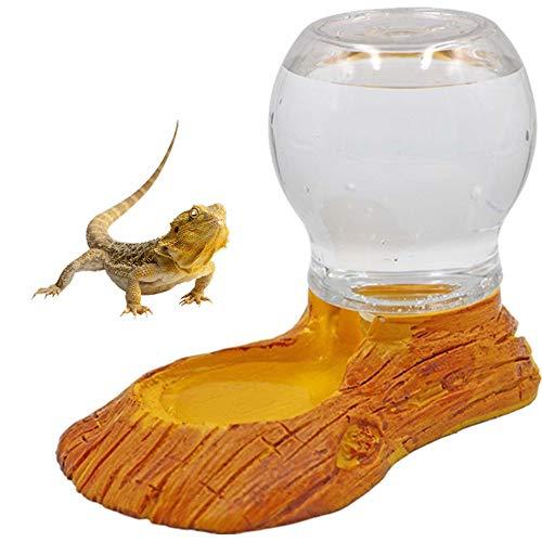 M.Z.A - Botella de Agua para Reptil, dispensador de Agua de hámster, Cuenco de Agua, Plato de alimentación automático para Reptiles, Anfibios, Tortuga, Lagarto