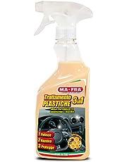 Ma-Fra, Trattamento 3in1 Plastiche, Pulisce, Ravviva e Protegge le Parti Interne dell'Auto, Creando una Barriera Anti Raggi UV, Formato 500ml