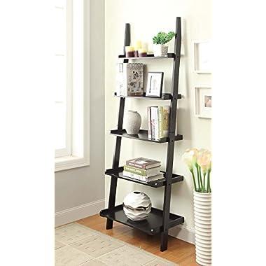 Convenience Concepts American Heritage Bookshelf Ladder, Black