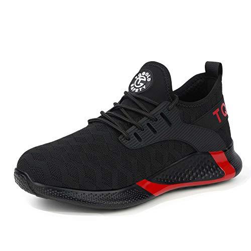 Zapatos de seguridad para hombre y mujer S3 ligeros zapatos de trabajo con punta de protección de acero transpirable antipinchazos talla 36 – 48