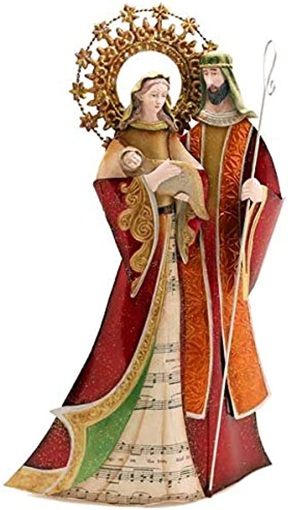 Gall&zick,sacra famiglia, maria e giuseppe, personaggi del presepe, statuetta natalizia,30 cm FLX-262