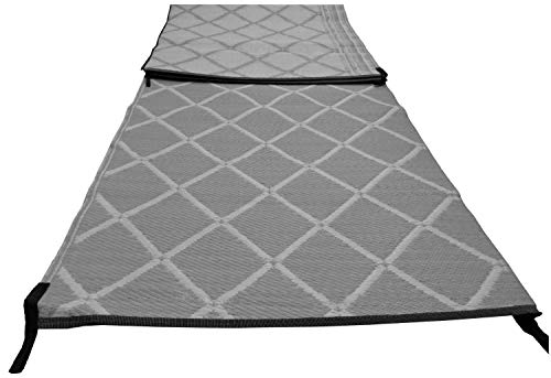 Paradise Groundsheet Awning Carpet 2.5m X 4.5m Padded Strong Woven - Grey