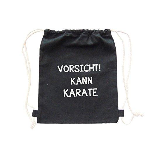 Partybob Kinder Rucksack Vorsicht! Kann Karate (Schwarz)