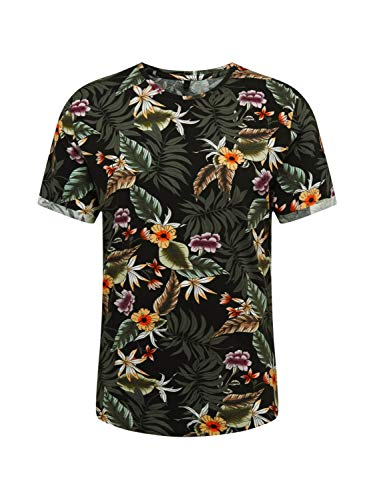 KEY LARGO Herren Shirt MT Plants schwarz L