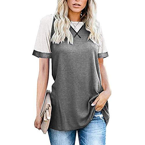 Sommer Neues Top KurzäRmeligen Rundhalsausschnitt Einfarbige Mode LäSsig Weibliches T-Shirt
