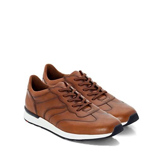 LLOYD Herren Low-Top Sneaker ASCAR, Männer Sneaker,Halbschuh,Schnürschuh,Strassenschuh,Business,Freizeit,Cognac,9.5 UK / 44 EU
