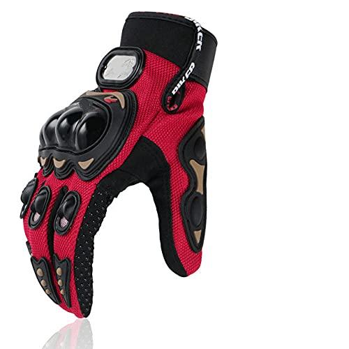 Guantes de Motocicleta al Aire Libre Motocicleta de Cross-Country Transpirable Guantes de Moto de Carreras de Dedos completos Equipo de protección