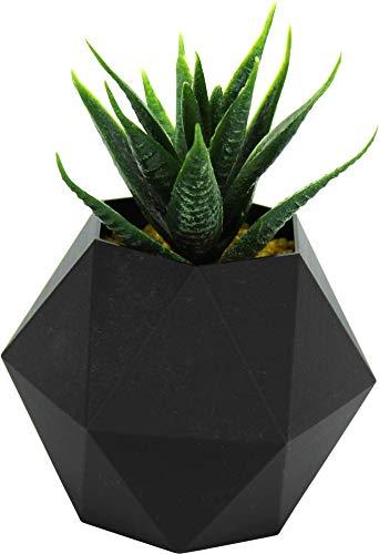 NetClient Pot de jardinière décorative moderne en plastique Planteurs uniques en plastique Jolie plante Pot Pot de fleur (Hexagon M, nero)