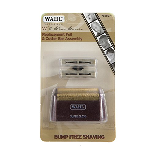 Wahl Professional 5 Star Series Shaver Shaper Replacement Super Close Gold Foil and Cutter Bar Assembly, Hypo-allergenic Super close Shaving for Professional Barbers and Stylists - Model 7031-100
