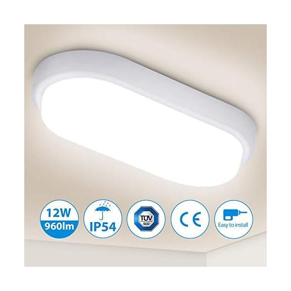LED-Deckenleuchte-Badlampe