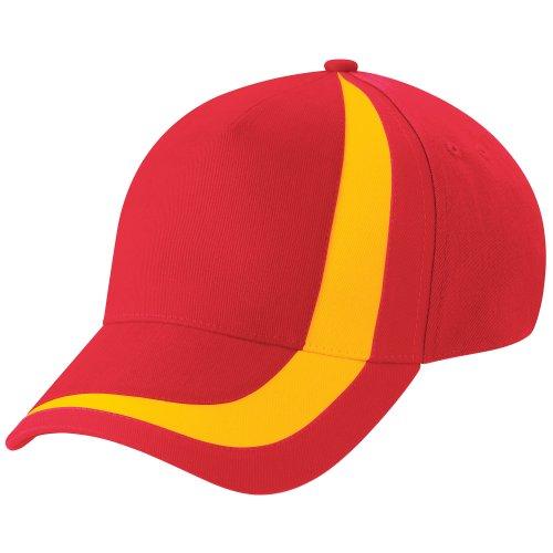 Beechfield - Gorra/Visera Unisex Banderas de naciones del mundo Modelo World Flags Nations España - Verano/Piscina - 100% algodón.