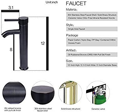 Boat Shape Bathroom Artistic Glass Vessel Sink Free Oil Rubbed Bronze Faucet and Pop-up Drain,Gold ingot