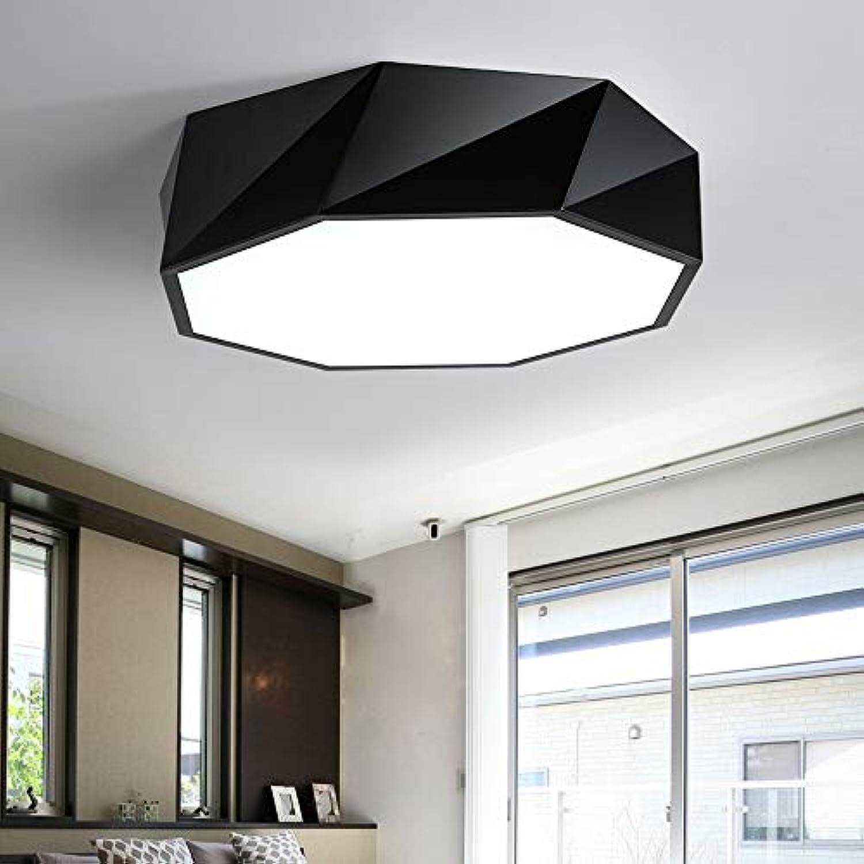 MackeJacke Nordic Einfache Moderne Led Deckenleuchte Warm Schlafzimmer Kreative Geometrische Lampen 53  53Cm Schwarz DREI Licht