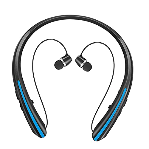 prasku Auriculares Estéreo Inalámbricos con Bluetooth para Auriculares con Micrófono Y Banda para El Cuello Sport - Azul