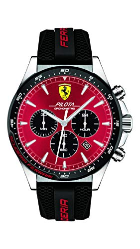 Scuderia Ferrari Orologio Cronografo Quarzo Uomo con Cinturino in Silicone...