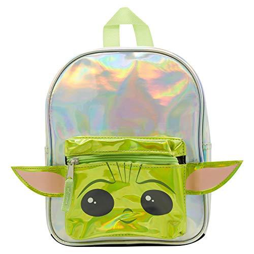 Baby Yoda Backpack Combo Set - Star Wars Baby Yoda Girls 3 Piece Mini Backpack Set - Backpack, Water Bottle and Carabina (Baby Yoda Mini)