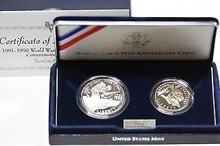 1993 W World War II 50th Anniversary Coins Proof