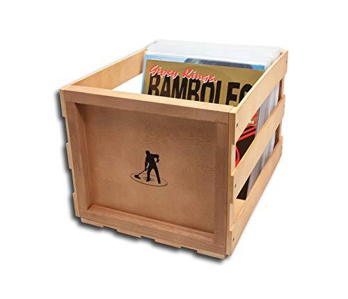 Protected Schallplatten Holzbox für 75 LPs
