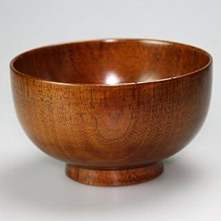 天然木製 大汁椀(15cm) 木目 漆塗り
