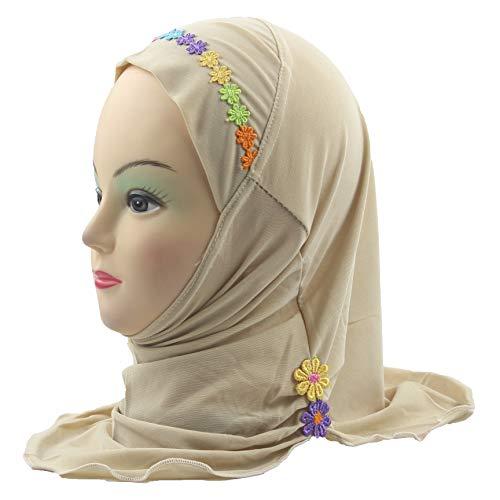 Muslim Practical Kids Hijab Islamic Girls Amira Cap Ready to wear Scarf for ages 2-6