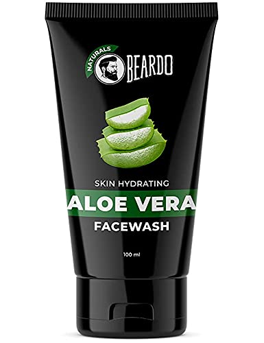 Beardo Naturals Skin Hydrating Aloe Vera Facewash, 100 ml | Face Wash for Men | Soap Free | Sulfate Free | Paraben Free | Daily use facewash| Soothes, Hydrates & Heals | Made in India