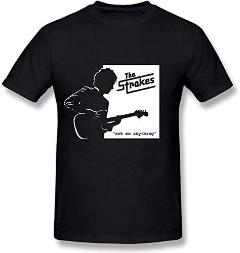 LYZBB Sportbekleidung Herren Kurzarmshirt, Strokes Cotton Men's T-Shirts Short Sleeve Tees & Tops Clothing