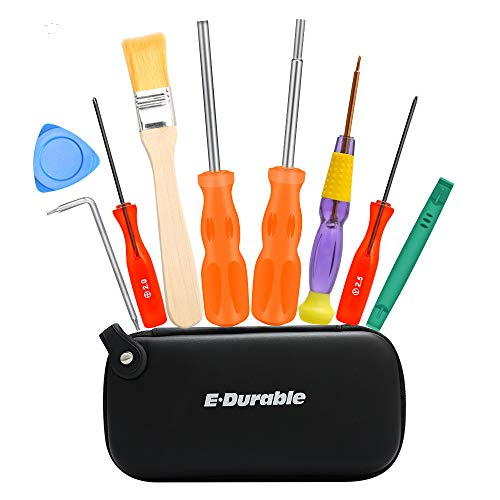 E·Durable Gamebit Set, 3.8mm and 4.5mm Security Screwdriver Game Bit Set for Nintendo Switch 3DS N64 Console Wii U Sega Master Genesis 32x, Game Cube Console,etc