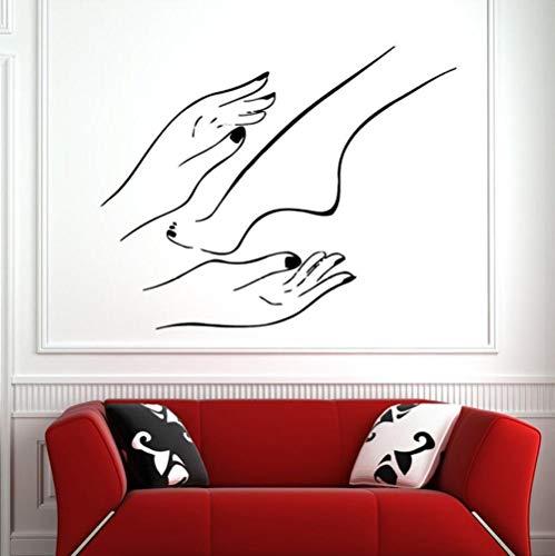 Sticker Mural Autocollants Muraux Nail Salon Pied Bain Spa Boutique Manucure Pédicure Salon De Beauté Vinyle Art Chambre Décoration De La Maison 42X52 cm