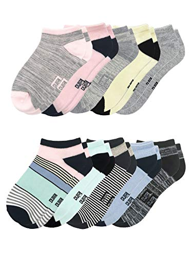 Felina   No-Show Bamboo Women's Socks   10-Pack (Multicolor, One Size)